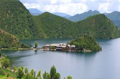 Lake island. China Lijiang, the beautiful lake island Royalty Free Stock Image