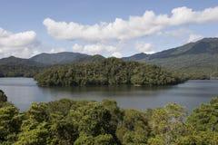 Lake with island, Australia Royalty Free Stock Images