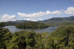 Lake with island, Australia Royalty Free Stock Photos