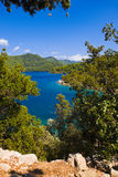 Lake at island Mljet in Croatia Stock Photos