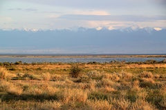 Lake Issyk Kul royalty free stock photo