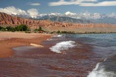 Lake  Issyk-kul .mountain. Lake  Issyk-kul . Kyrgyzstan. Summer Royalty Free Stock Photos
