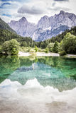 Lake Jasna near Kranjska Gora, Slovenia. Royalty Free Stock Photo