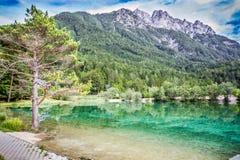 Lake Jasna near Kranjska Gora, Slovenia. Royalty Free Stock Photo