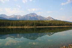 Lake in Jasper. A lake at Jasper National Park in the fall Royalty Free Stock Images