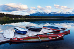 Lake in Jasper National Park Stock Photos