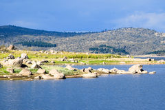Lake Jindabyne foreshore in Australia. Lake Jindabyne foreshore on an autumn (fall) afternoon in Australia Stock Photography