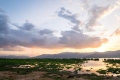 Lake Jipe at the border of Kenya and Tanzania, Africa Royalty Free Stock Photography