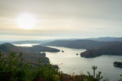 Lake Jocassee View from Jumping Off Rock royalty free stock images