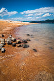 Lake jocassee shore Royalty Free Stock Photography