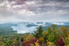 Lake Jocassee Upstate South Carolina Jocassee Gorges Overlook Royalty Free Stock Image