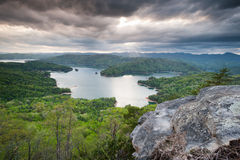 Lake Jocassee Upstate South Carolina Spring Scenic Stock Image