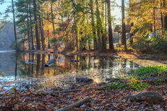 Lake Johnson Raleigh, NC Royalty Free Stock Photography