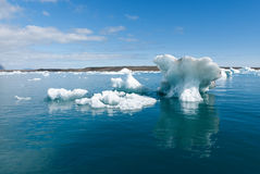 Lake Jokulsarlon. Iceberg lake with strange shapes Jokulsarlon Royalty Free Stock Image