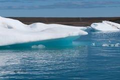 Lake Jokulsarlon. Iceberg with blue reflections on the lake in Iceland Jokulsarlon Royalty Free Stock Images