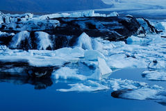Lake of Jokulsarlon, south of Iceland stock photography
