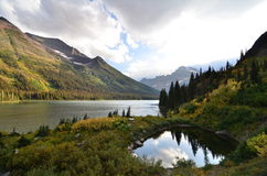 Lake Josephine at Glacier National Park Stock Photo