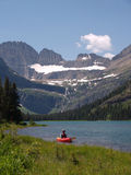 Lake Josephine and Kayaker royalty free stock photography