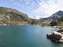 Lake Juclar in Andorra Royalty Free Stock Photography