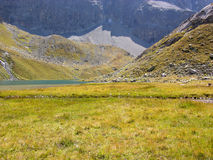 Lake at Julier pass Stock Photo