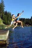 LAKE JUMPING Stock Image