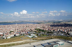 Lake Küçükçekmece aerial view, Istanbul Royalty Free Stock Photography