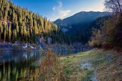 Lake Kaindy. Royalty Free Stock Photography
