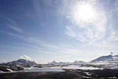 Lake in the Kamchatka Royalty Free Stock Photo