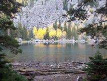 Lake Kathleen, Beartooths, Montana. Camping at Lake Kathleen - Beartooth Mountains, in Southern Montana in fall royalty free stock image