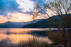 Lake Kawaguchi arkivbild