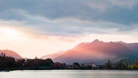 Lake Kawaguchi. Beautiful scenery of lake Kawaguchi, Japan stock image