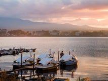 Lake Kawaguchi. Beautiful scenery of lake Kawaguchi, Japan stock images