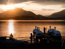 Lake Kawaguchi. Beautiful scenery of lake Kawaguchi, Japan royalty free stock photos