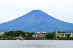 Lake of Kawaguchi with Fuj Mountain. KAWAGUCHIKO, JAPAN - OCTOBER 9, 2016: Lake of Kawaguchi with Fuji Mountain background royalty free stock photos