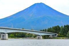 Lake of Kawaguchi with Fuj Mountain. KAWAGUCHIKO, JAPAN - OCTOBER 9, 2016: Lake of Kawaguchi with Fuji Mountain background royalty free stock photography