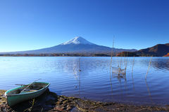 Lake kawaguchi and Fujisan. In Japan royalty free stock images