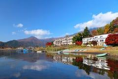Lake kawaguchi in Japan Stock Photo