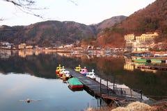 LAKE KAWAGUCHI IN JAPAN Royalty Free Stock Image
