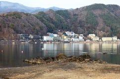 LAKE KAWAGUCHI IN JAPAN Royalty Free Stock Images