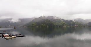 Lake Kawaguchi - Panorama Royalty Free Stock Images