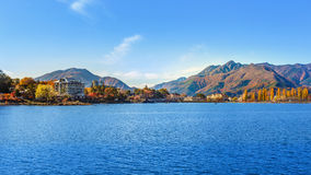 Lake Kawaguchiko in Autumn. Lake Kawaguchi (Kawaguchiko) at Fujikawaguchiko in Japan royalty free stock photos