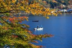Lake Kawaguchiko. Beautiful sunshine Lake Kawaguchiko, Japan Stock Photo