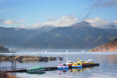 Lake kawaguchiko royalty free stock photo