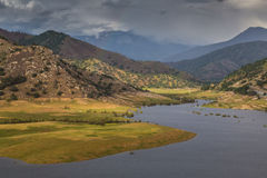 Lake Kaweah green valley Royalty Free Stock Image