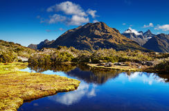 Lake at the Key Summit, New Zealand Stock Photography