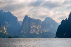 Lake Khao Sok. National Park of Thailand Khao Sok in the winter Stock Images