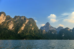 Lake Khao Sok. National Park of Thailand Khao Sok in the winter Royalty Free Stock Images