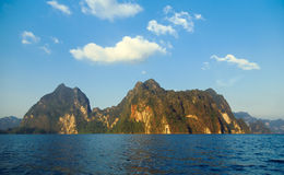 Lake Khao Sok. National Park of Thailand Khao Sok in the winter Royalty Free Stock Image