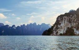 Lake Khao Sok. National Park of Thailand Khao Sok in the winter Royalty Free Stock Photos
