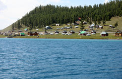 Lake Khovsgol, northern Mongolia Stock Photo